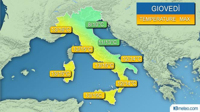 Meteo: domina ancora l'alta pressione, domani temperature ancora in aumento