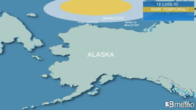 rari temporali sul ghiaccio artico