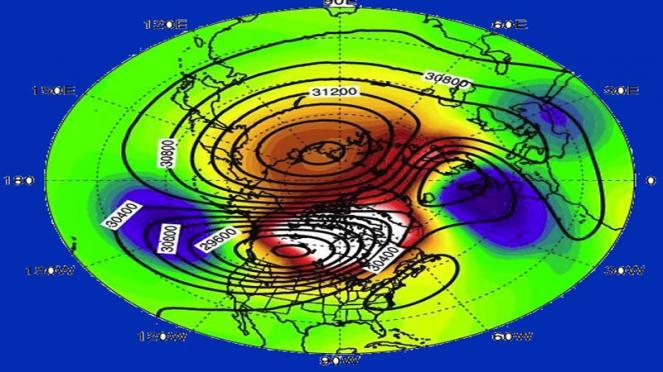 riscaldamento della stratosfera