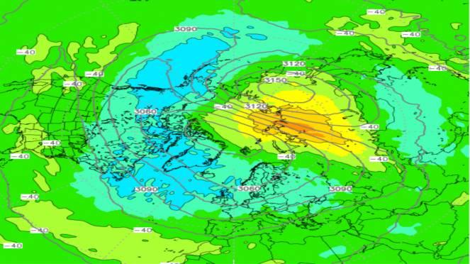 riscaldamento stratosferico, sarà l'ultimo prima dell'estate