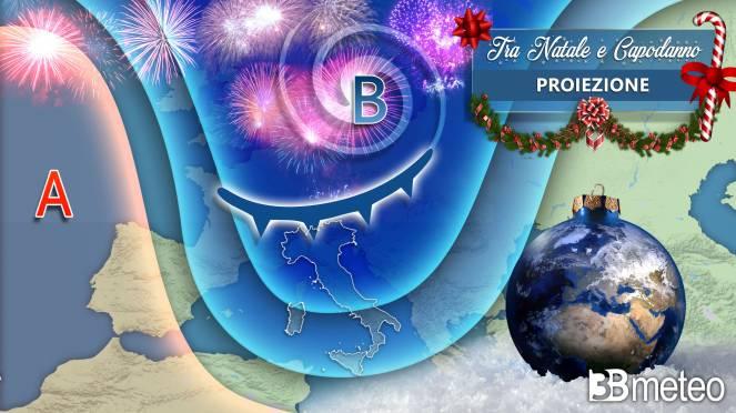 Saccatura polare sull'Italia tra Natale e Capodanno