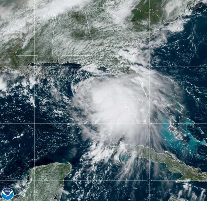 Sally dal satellite, domenica 13 settembre (Fonte: NOAA)