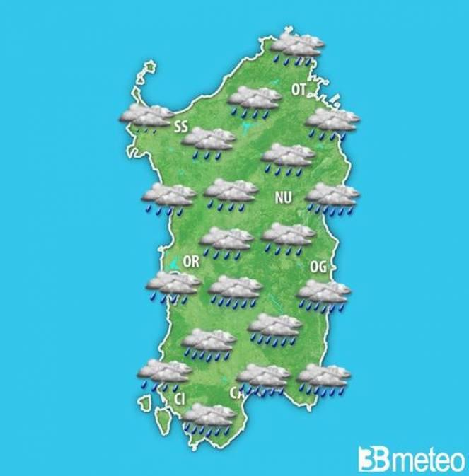 Sardegna: torna il maltempo nel weekend. Fase clou nella giornata di domenica 26.