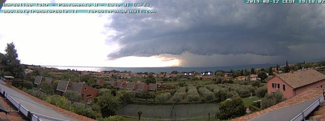 Scatto webcam da Bardolino(VR) ore 19.18