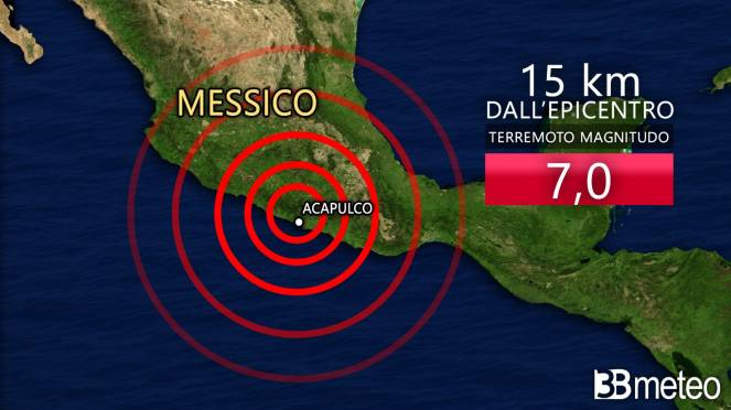 Scossa di magnitudo 7 in Messico