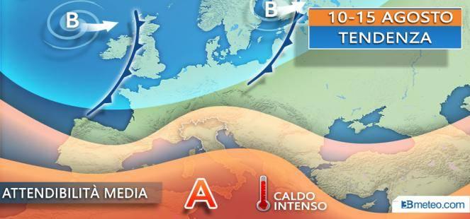 Settimana di Ferragosto tra alta pressione e passaggi instabili sulle Alpi