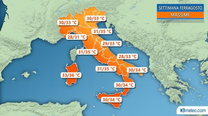 METEO - Previsioni per Ferragosto: in aumento le temperature a Catania