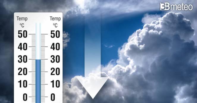 Si ridimensionano le temperature