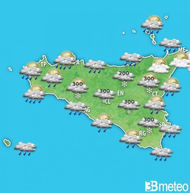 Sicilia. Previsione per sabato sera