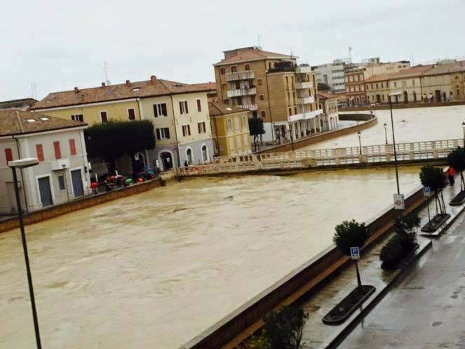 Situazione critica a Senigallia per il fiume Misa