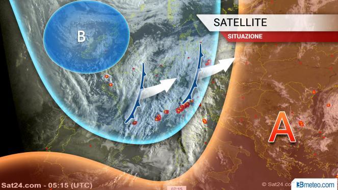 Situazione meteo in Europa