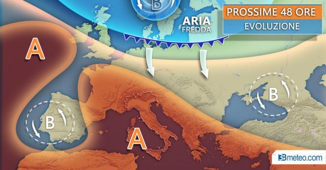 Situazione meteo prossime 48 ore