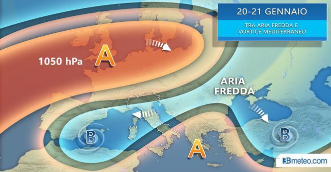 Situazione meteo su scala europea