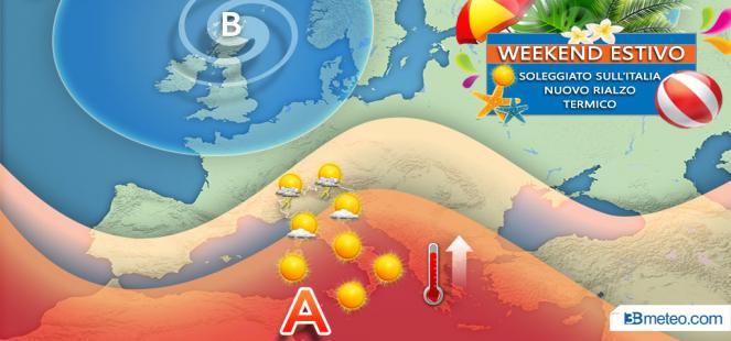 Sole e nuovo rialzo termico nel weekend