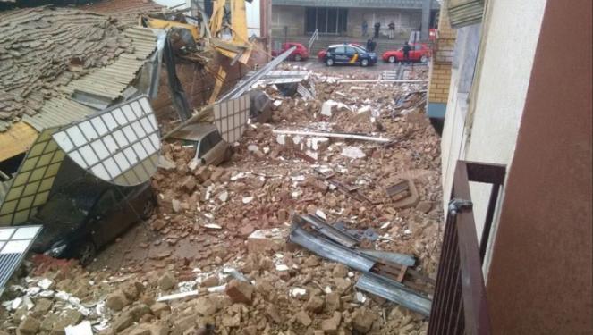 Spagna, Andalusia possibile Tornado devasta il Mercato ortofrutticolo di Linares