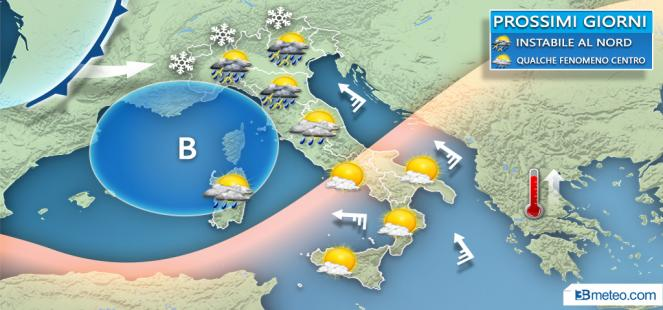 Spiccata instabilità nei prossimi giorni al Centro-Nord