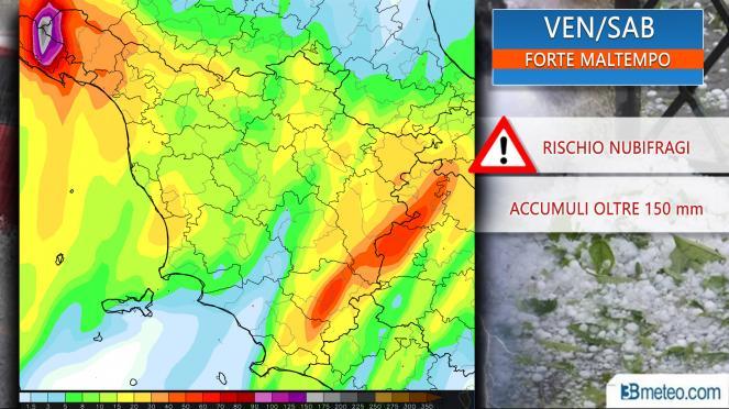 Sulla Toscana attesi temporali, forti venti e mareggiate