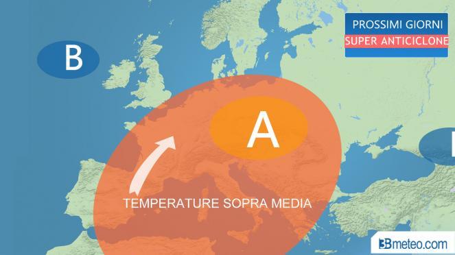 super anticiclone su mezza Europa