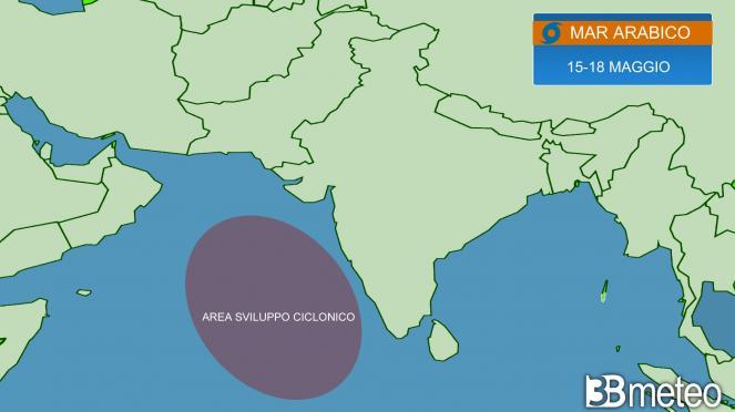 sviluppo ciclonico, area di interesse