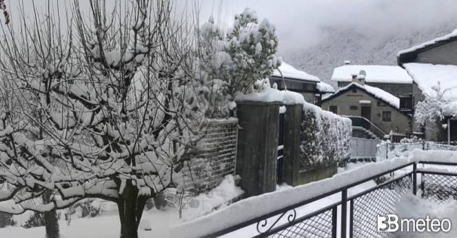 Tanta neve al nord, anche in pianura