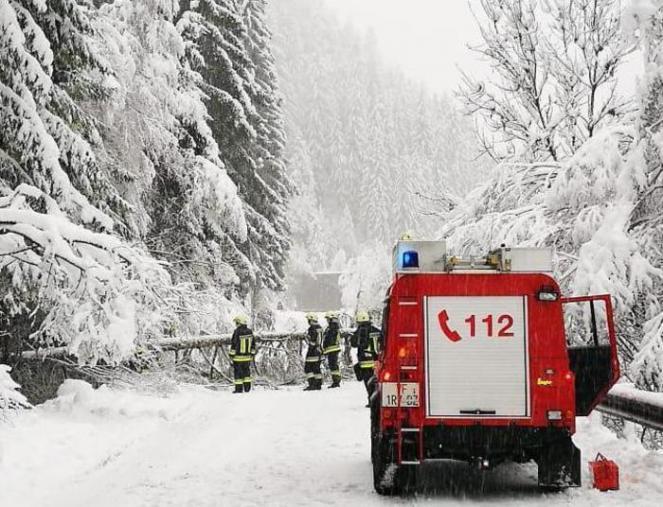 Tanta neve anche in Alto Adige con disagi e blackout. Fonte immagine ANSA