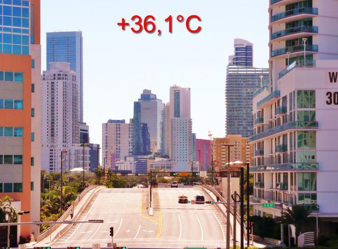 Temperatura record a Miami per Aprile, 36.1°C
