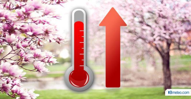 Temperature in aumento, da piena primavera