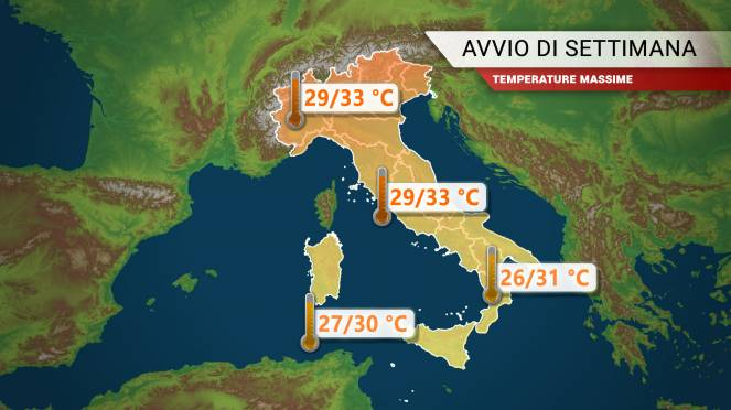 Week end di temporali, temperatura in calo di 8-10 gradi