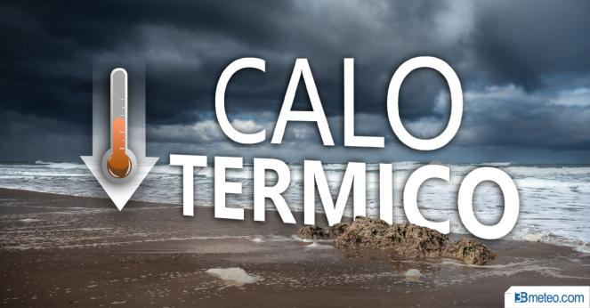 Temperature in calo al Sud