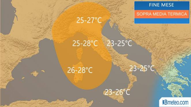 Temperature in rialzo dal weekend