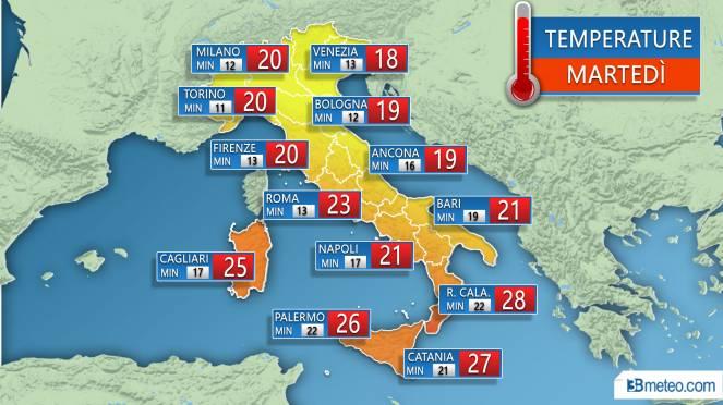 Bollettino meteo della Protezione Civile: vento forte per due giorni