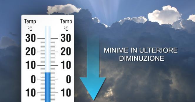 Temperature minime in ulteriore calo