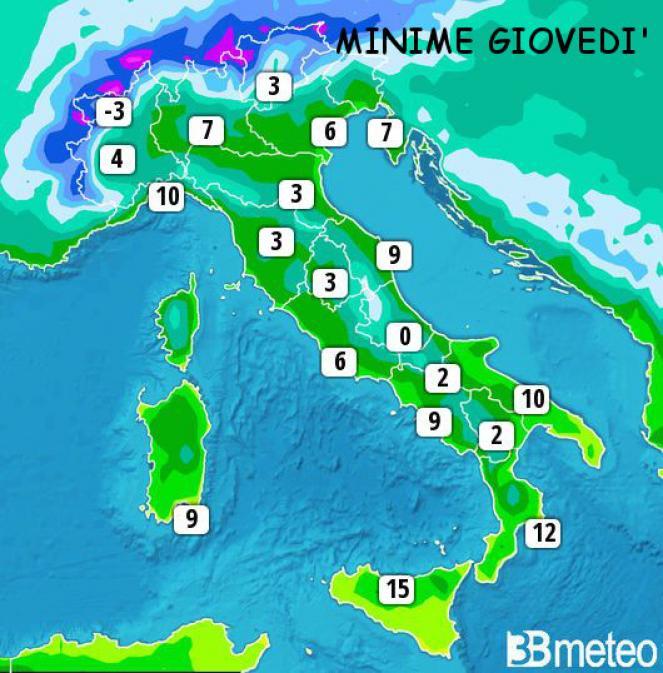 Colpo di coda invernale, temperature rigide, pioggia e neve tornano sulla penisola