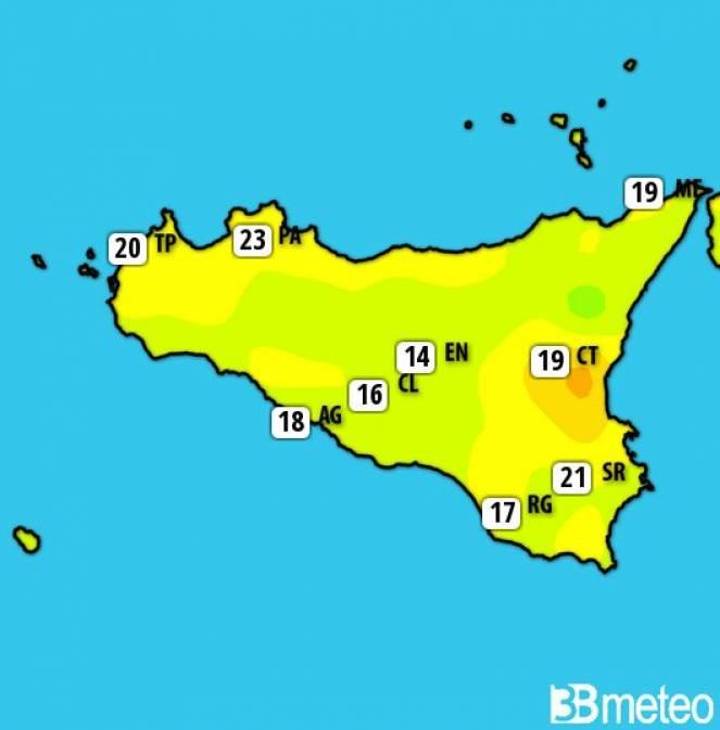 Temperature Sicilia