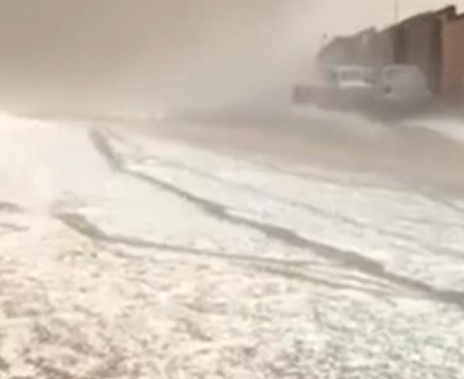 Tempesta di grandine in Arabia Saudita
