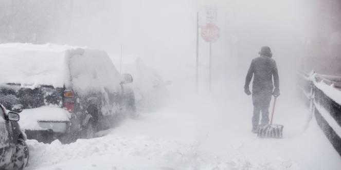Tempesta di neve. Immagine di repertorio