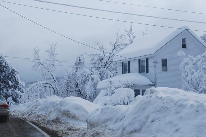 Tempesta di neve in USA. Immagine di repertorio