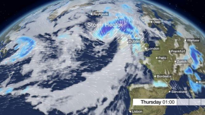Tempesta Hector sulle Isole Britanniche