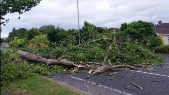 Tempesta Hector sulle Isole Britanniche - danni a Belfast