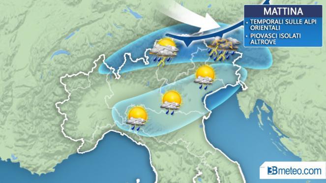 Temporali oggi a nord, a partire da Piemonte e Valle D'Aosta