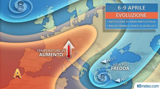 Tendenza meteo 6-9 aprile