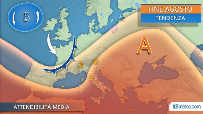 tendenza meteo fine estate 2019