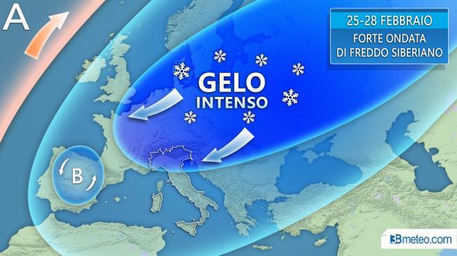 Tendenza meteo: forte ondata di gelo in arrivo sull'Europa