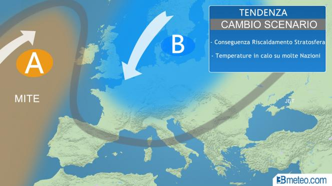 tendenza meteo in Europa