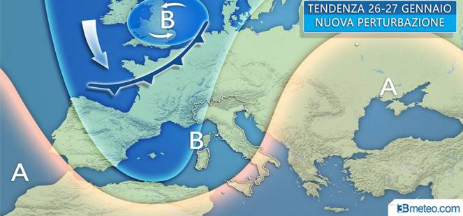 Perturbazione da venerdì, più colpito il Nord: pioggia e neve sulle Alpi