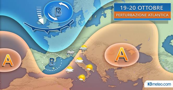 Tendenza meteo per il weekend