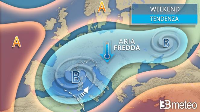 Tendenza meteo prossimo weekend