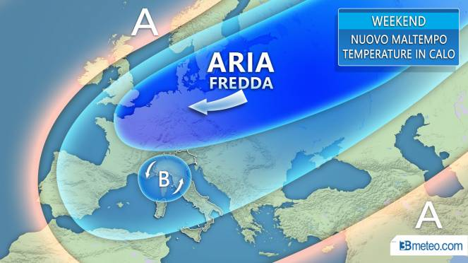 Tendenza meteo weekend