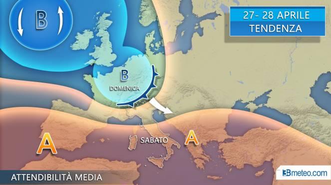 Tendenza tra sabato e domenica, possibile fronte freddo (da confermare)
