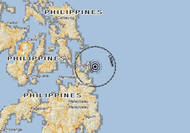 Scossa di terremoto a TANDAG, Filippine